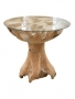 6decon099-table-tree-trunk-with-glaze-plate-80cm